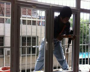断桥铝门窗施工